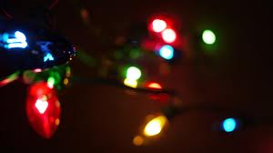 Christmas lights in dark