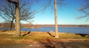 Arkansas River, in January