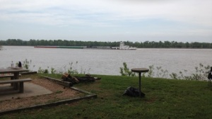 Barge and Tug on the Arkansas River 1