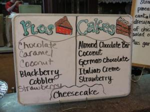 Charlotte's Eats and Sweets list
