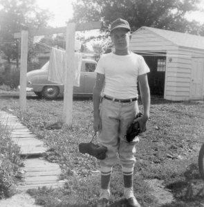 Reggin's house and new garage  1955