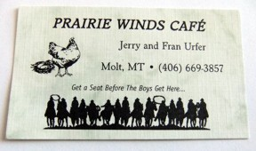 Molt Prairie Winds Cafe