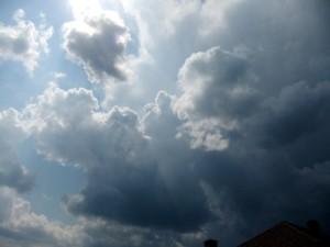 Clouds storm coming June 11, 2011