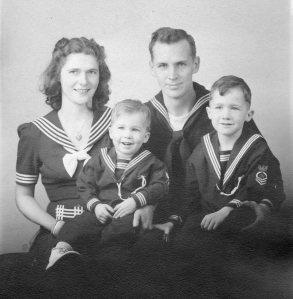 Elmquist family WW II 1944