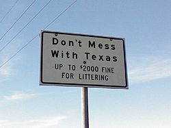 Texas don't mess with Texas