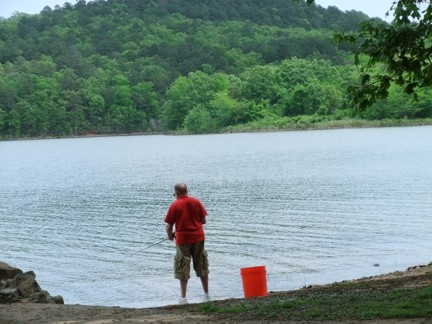 Jeremy fishing 2012 Lake Maumelle