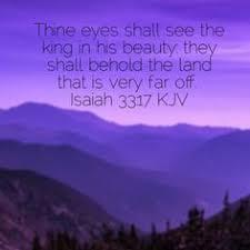 Isaiah thirty three, seventeen 2